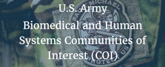 U.S. Army Biomedical and Human Systems Communities of Interest (COI)