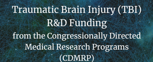 Traumatic Brain Injury (TBI) R&D Funding from the Congressionally Directed Medical Research Programs (CDMRP)