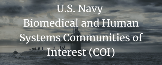 U.S. Navy Biomedical and Human Systems Communities of Interest (COI)
