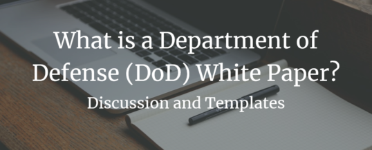What is a Department of Defense (DoD) White Paper?